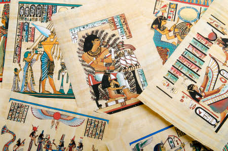 Egyptian history concept with papyrus Stock Photo - 12299009