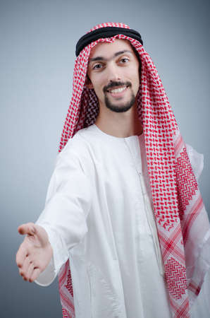 qameez: Portrait of young arab