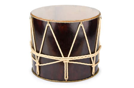 Azeri traditional drum nagara on white Stock Photo - 12347047