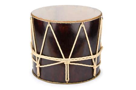 drum and bass: Azeri traditional drum nagara on white