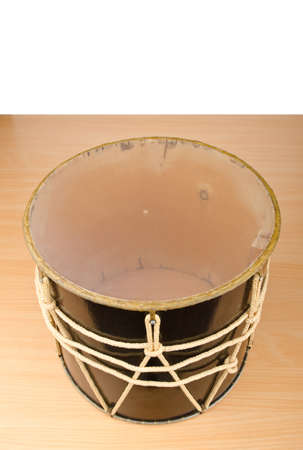 Azeri traditional drum nagara on white photo