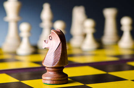 piecies: Concept of chess game with pieces