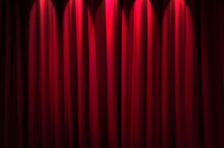 Brightly lit curtains in theatre concept Stock Photo - 12346375