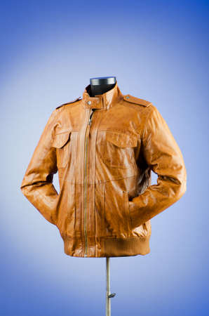 Brown leather jacket in fashion concept Stock Photo - 12347712