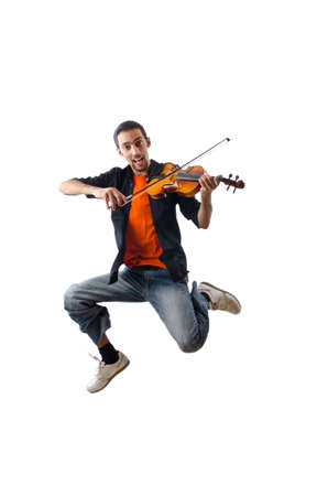 violin player: Violin player isolated on white