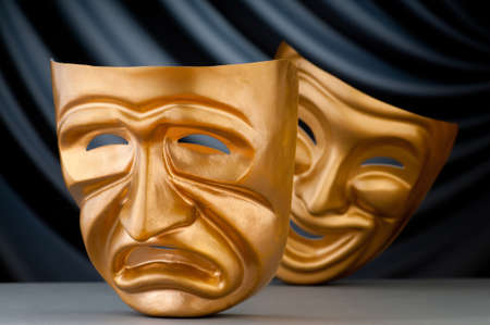 Masks with the theatre concept Stock Photo - 12347388