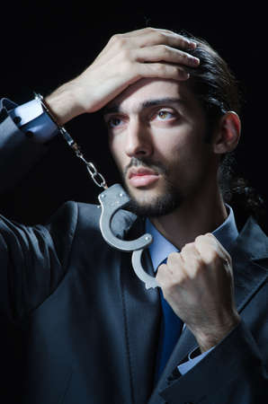 Businessman jailed for his crimes Stock Photo - 12395358