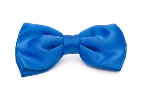 silk tie: Bow tie isolated on the white