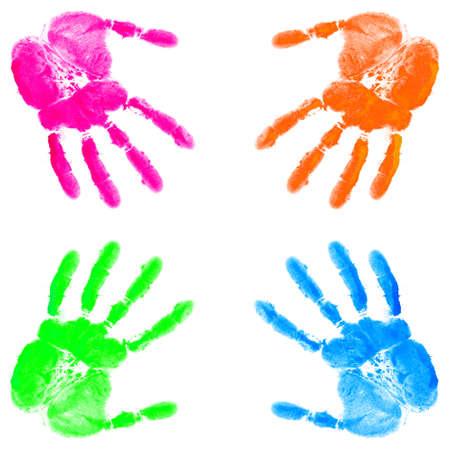 hand print: Hand print on the white