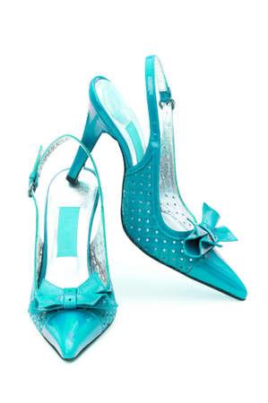 Female shoes on white background Stock Photo - 12349269