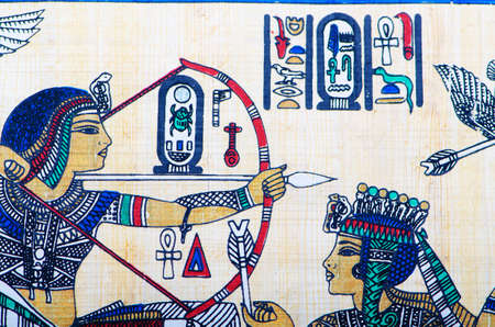Fragment of egyptian papyrus Stock Photo - 12298774