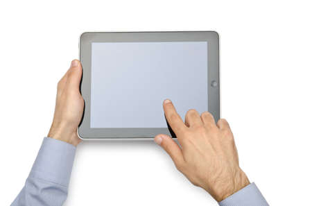 Tablet computer isolated on the white Stock Photo - 12349370