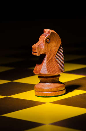Chess concept with various pieces photo