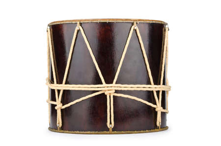 Azeri traditional drum nagara on white Stock Photo - 12346307