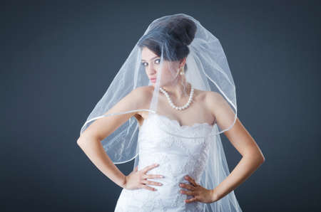 Beautiful bride in studio shooting Stock Photo - 12556070