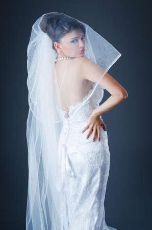 Beautiful bride in studio shooting Stock Photo - 12556069