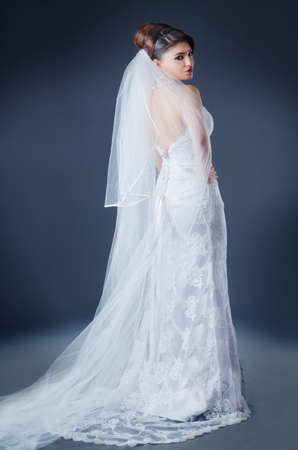 Beautiful bride in studio shooting Stock Photo - 12556063