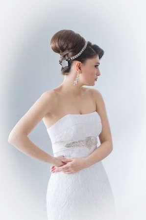 Beautiful bride in studio shooting Stock Photo - 12556061