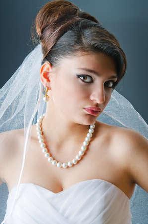 Beautiful bride in studio shooting Stock Photo - 12556072