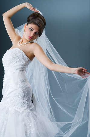 Beautiful bride in studio shooting Stock Photo - 12556073