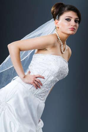 Beautiful bride in studio shooting Stock Photo - 12556065