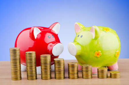 Piggy bank in business concept Stock Photo - 12345950
