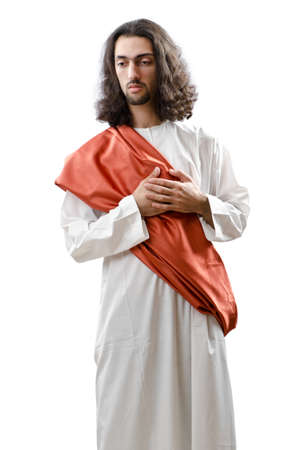 lord jesus: Jesus Christ personifacation isolated on the white