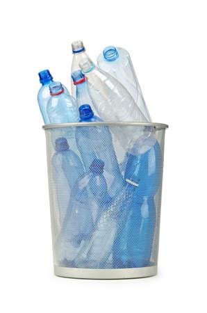 Empty plastic water bottles on white Stock Photo - 12395663