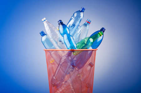 Concept of recycling with plastic bottles photo