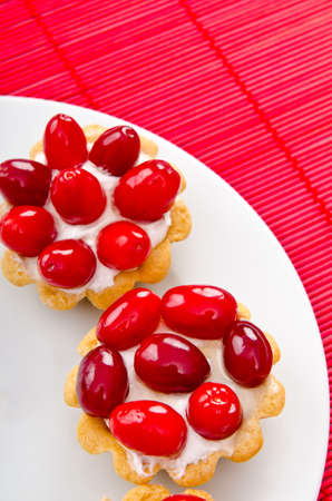 piecies: Fruit pastries in the plate Stock Photo