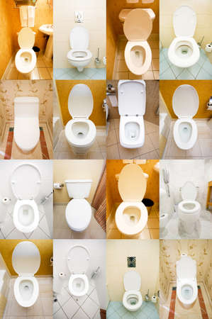 Collection of toilets from various places Stock Photo - 12395687