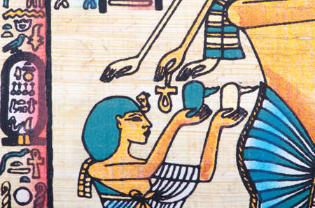 scribes: Egyptian papyrus as a background