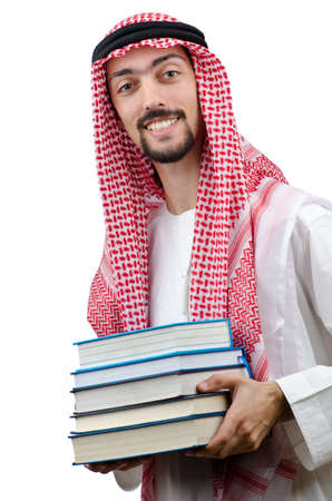 Education concept with young arab Stock Photo - 12556488