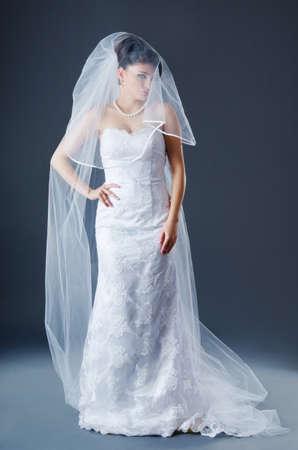 Beautiful bride in studio shooting Stock Photo - 12580049