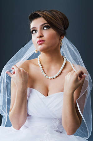 Beautiful bride in studio shooting Stock Photo - 12556431