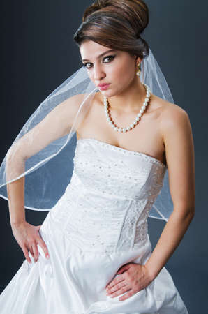 Beautiful bride in studio shooting Stock Photo - 12556415