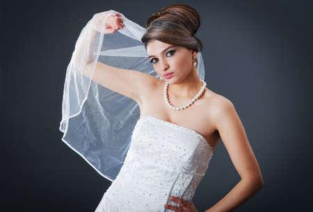 Beautiful bride in studio shooting Stock Photo - 12556401
