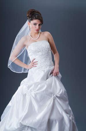 Beautiful bride in studio shooting Stock Photo - 12556492