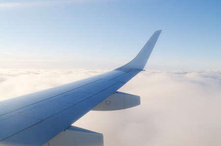 Wing of airplane from window Stock Photo - 12522277