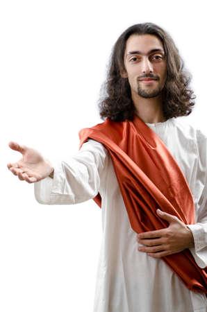 espiritu santo: Jes�s Cristo personifacation aislados en el blanco