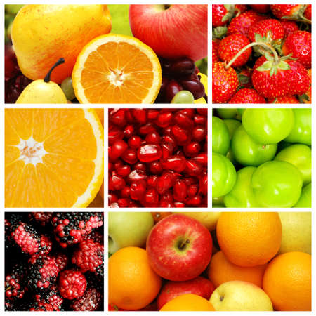 collages: Set of various food items Stock Photo