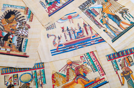 Fragment of egyptian papyrus Stock Photo - 12489063