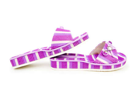 Summer colourful shoes on white Stock Photo - 12528985