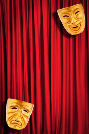 Theatre performance concept with masks Stock Photo - 12504145