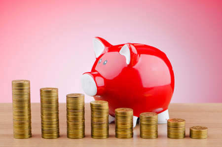 Piggy bank in business concept photo