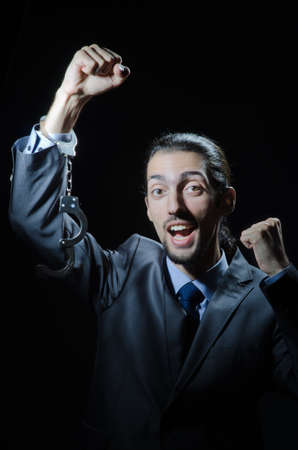Businessman jailed for his crimes Stock Photo - 12556254