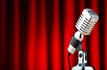 Vintage microphone against the background Stock Photo - 12581361
