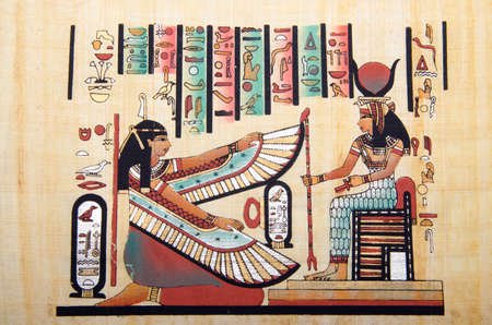 Egyptian history concept with papyrus Stock Photo - 12572601
