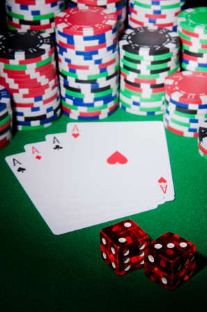 Casino concept with chips and cards Stock Photo - 12580854