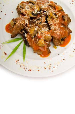 piecies: Meat piecies served in the plate
